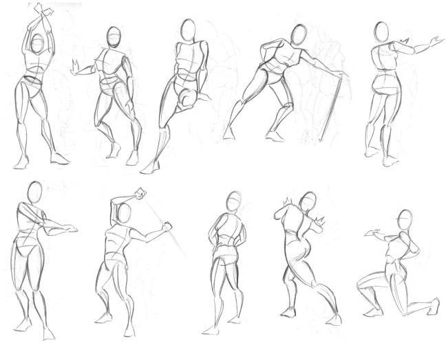 Y8 figure drawing sheet 2 Simple