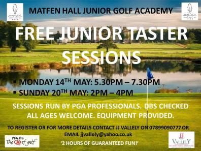 MATFEN HALL JUNIOR TASTER SESSIONS