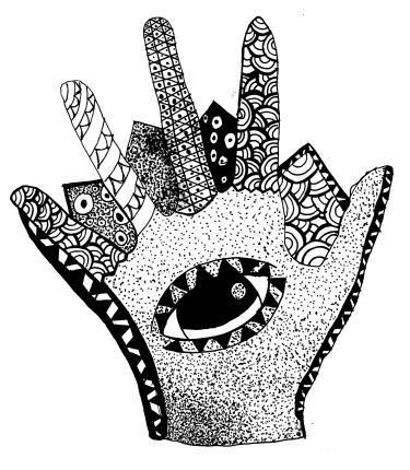 stipple hand